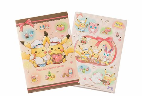 A4クリアファイル Pikachu's Sweet Treats