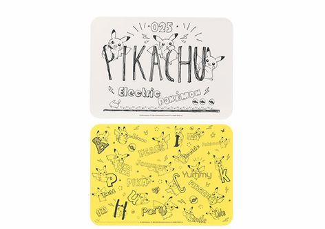A3ランチョンマット2枚セット Pikachu living & dining