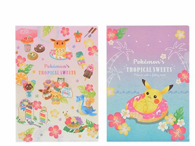 A4クリアファイル2枚セット Pokemon's TROPICAL SWEETS 460円